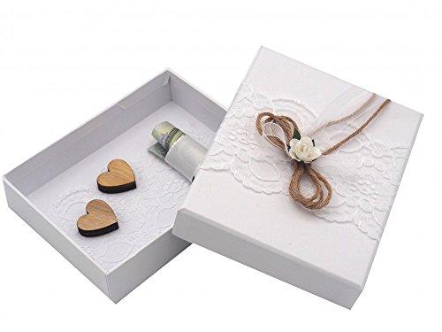 ... Verpackung Vintage Weiß Hochzeit Hochzeitsreise Urlaub Geburtstag