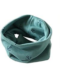 SMARTLADY - Otoño Invierno Ancla Bufandas de Bebé Niños niñas, Algodón O Cuello Pañuelos para el cuello