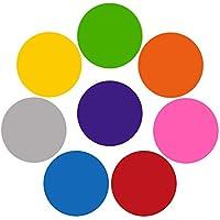 LiféUP 8 piezas Colorido Borrado en seco Marcador de tablero blanco Punto de vinilo removible Juego para ejercicios de entrenamiento Escuela de enseñanza Progreso