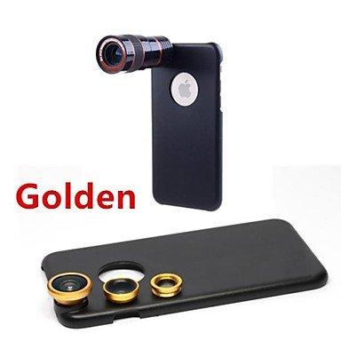 LL1775teleobiettivo 8x/lente fisheye/grandangolo add-on kit obiettivo macro con custodia posteriore per iPhone 6(colori assortiti) Kkkaool red