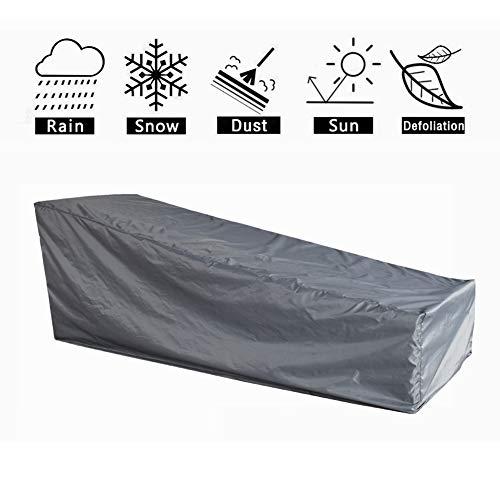 HONCENMAX Schutzhülle für Liegen | Abdeckhauben für Liegen | Sonnenliege Liegestuhl Abdeckung | Abdeckung für Gartenliegen und Relaxliegen | Wetterschutz | Wasserdicht | UV-Schutz
