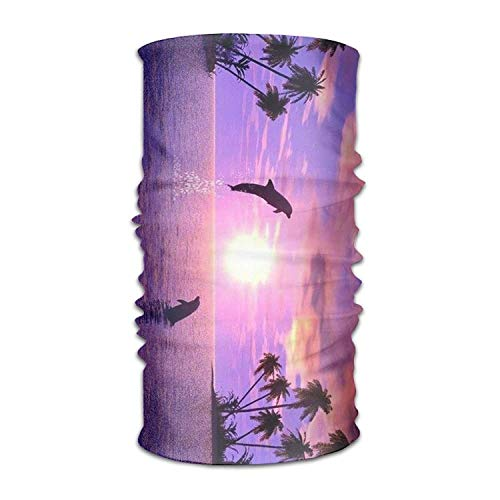 Dolphin Playing Games Headwear Bandanas Seamless Headscarf Outdoor Sport Headdress Running Riding Skiing Hiking Headbands 19.7x9.85(Inch)/50x25(cm)