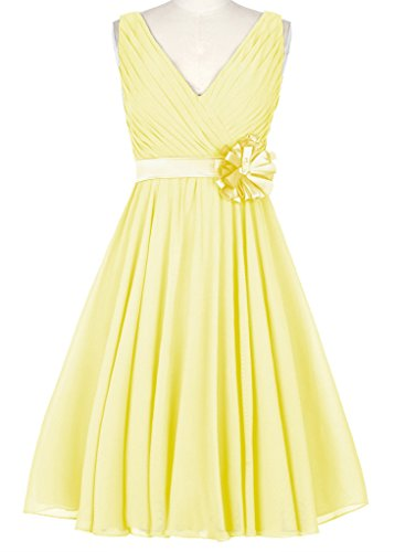 HUINI Damen Kleid Gelb