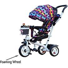 niño interior al aire libre el pequeño triciclo bicicleta Bicicleta de chico Moto chica Bebé de 6 meses a 6 años de edad tres ruedas carretilla toldo ( Color : # 5 , Edición : B )