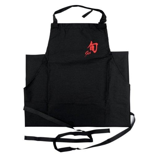 Kai Sun - Delantal de Chef Negro Largo con Logo