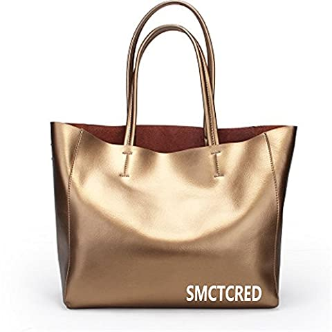 sac sac main sac à main Vintage Fashion cuir PU en cuir ncient façons Huile Cire Véritable Sac en cuir souple sac à bandoulière sac en cuir Sacoche Sac à main Sac à main Sac à main Sacs Sac, tablette, iPad (D'or)