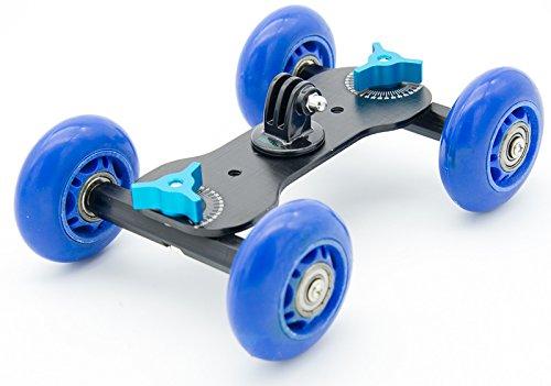 protastic Metall Kamera Cine Dolly mit Skateboard-Rollen für DSLR, GoPro und kompakt Kameras * Glatte Dynamic Tracking *