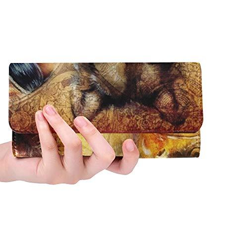 rdefinierte schöne Malerei junger indischer Mann Frau Frauen Trifold Wallet Lange Geldbörse Kreditkarteninhaber Fall Handtasche ()