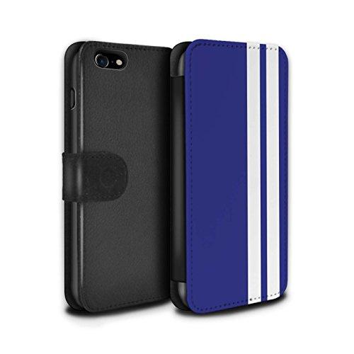 STUFF4 PU-Leder Hülle/Case/Tasche/Cover für Apple iPhone 5/5S / Gulf/Blau Muster / Rennwagen Streifen Kollektion Gordini Renault