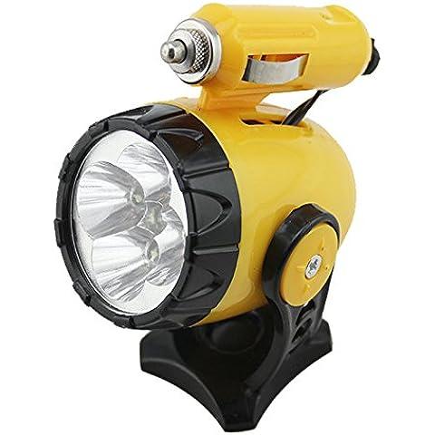 LOBZON coche 12V 5lámparas LED imán magnético para el coche luces de emergencia luz de trabajo de reparación de automóviles