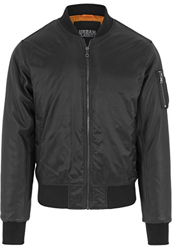 Urban Classics - Jacke Basic Bomber Leather Imitation Sleeve Jacket,
