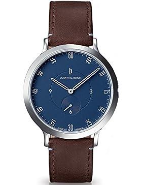 Lilienthal Berlin - Made in Germany - Die neue Uhr aus Berlin. Modell L1, Edelstahl Gehaeuse (Gehäuse: silber...