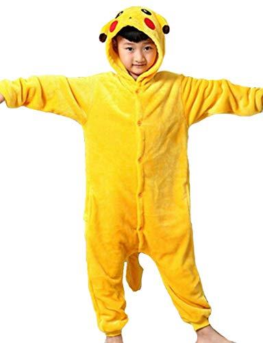 Kigurumi pigiami animali da bimbi bambini tuta costume carnevale halloween festa cosplay unisex-m/8-9years-pikachu