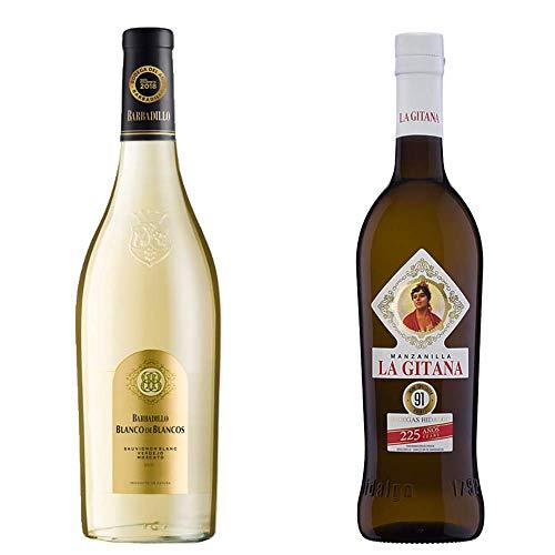 Blanco De Los Blancos Y Manzanilla La Gitana - Vino Blanco Y D. O. Manzanilla De Sanlúcar De Barrameda - 2 Botellas De 750ml