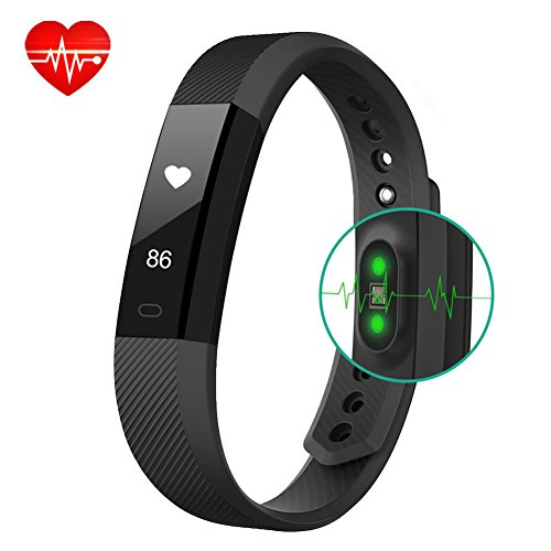 Fitness Tracker BigFox Fitness Bracelet Smart Watch Heart Rate Monitor Touch Screen Pedometer Wristbands Wearable Activity Tracker With Calorie Counter Step Tracker Sleep Monitor Health Tracker For La