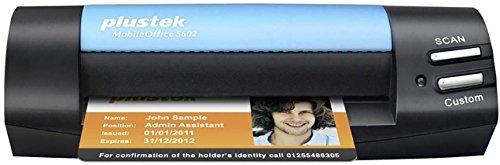 Plustek MobileOffice S602 Visitenkarten-Scanner 1200 x 1200DPI A6 schwarz, blau - (104,9 x 500 mm, 1200 x 1200 DPI, 48 bit, 24/48 bit, 8/16 bit, 1 bit)