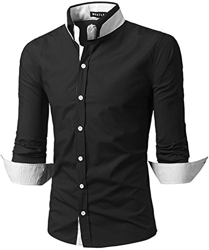 whatlees-mens-urban-basic-slim-fit-shirts-with-contrasting-inset-b100-black-l
