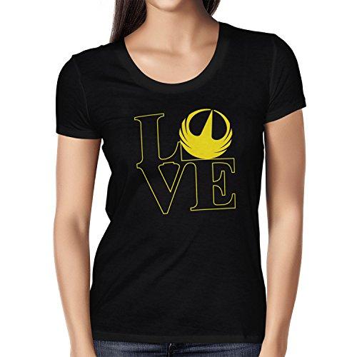 TEXLAB - Rebel Love - Damen T-Shirt Schwarz