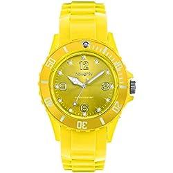 Zeigt Damen mit Swarovski Kristallen Silikon Gelb 26