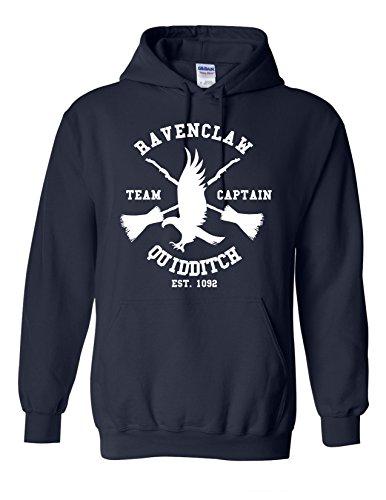 Inspiriert von Ravenclaw Hoodie Harry Potter Quidditch Team inspiriert Unisex - Navy