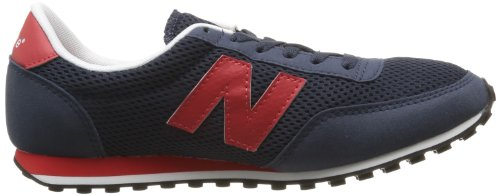 New Balance U410 D 14E, Baskets mode mixte adulte Bleu (Mnr Navy/Red)
