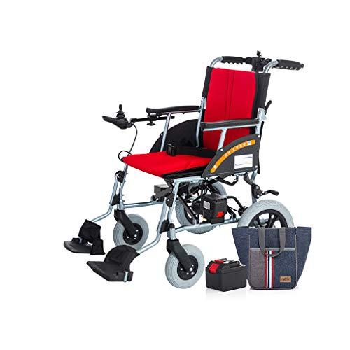 Intelligente Elektrorollstuhl Faltbar Leicht, Elektro Mobilitätshilfe Elektrischer Rollstuhl, Tragbarer Medizinischer Leichte Roller,Tragbare Ältere Behinderte Hilfe Auto,D