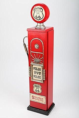MEUBLE Range CD - pompe à essence bois rouge, style