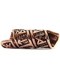 Bartperle Wikinger/Dreadlockperle aus Bronze mit Runen und Spiralmuster