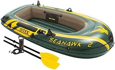 Intex Boot Seahawk 2 Set, grün, 236 x 114 x 41 cm/4-teilig