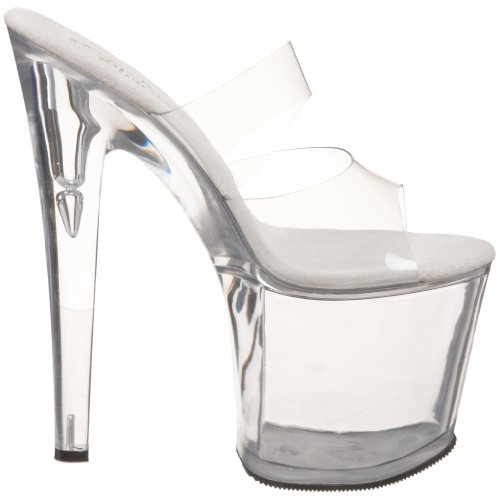 Pleaser TAB702/C/M Mules Femmes Transparent