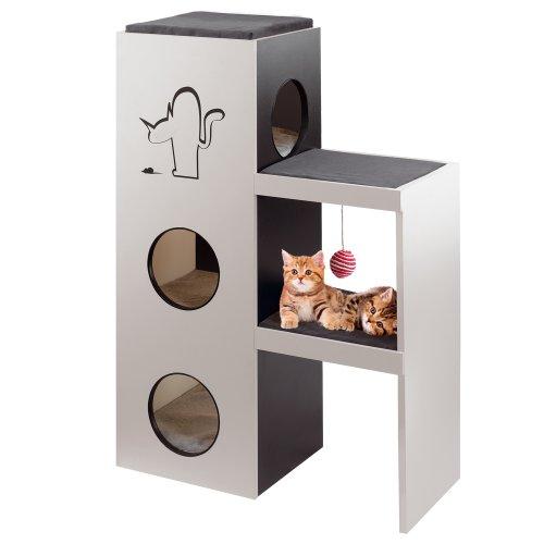 *Ferplast 74059021 Katzenmöbel Napoleon, aus Holz und mit Kratzfläche, Maße: 40 x 78,5 x 115 cm*