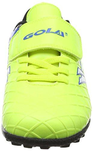Gola Talos Vx Velcro, Chaussures de Football Mixte Enfant Bleu (Volt/black/pro Blue)