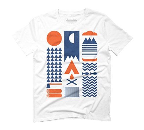 Simplify Men's Graphic T-Shirt - Design By Humans White