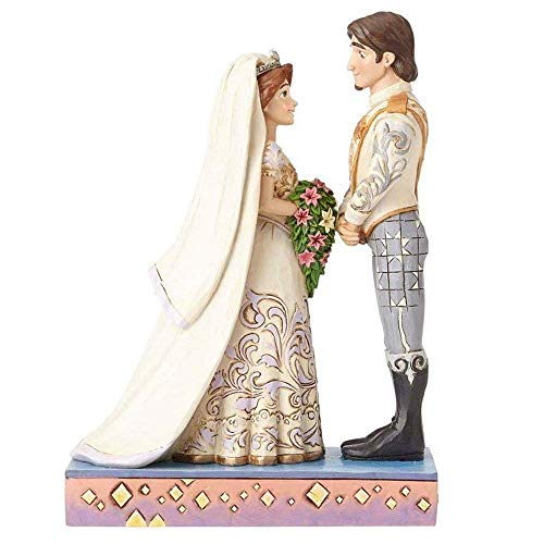 Disney Traditions de Jim Shore por Enesco Rapunzel y Flynn – Figura de novios (porcelana)