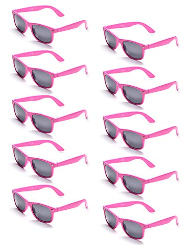 ONNEA 10 Paare Party Favors Sonnenbrille Set Sommer Kinder Damen (Rosa 10-Pack) (Pink Party Favors)