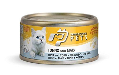 tonno con mais umido per gatto 24 scatolette