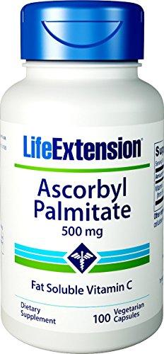 Life Extension   Ascorbyl Palmitate   500mg   100 vegane Kapseln   glutenfrei   sojafrei (Life Extensions Vitamin C)