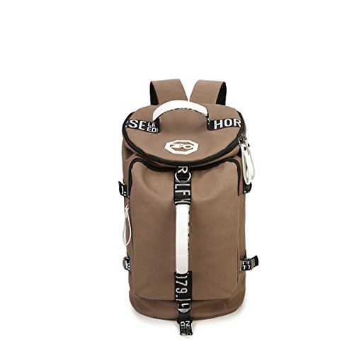 Canvas-Taschen Mit Großer Kapazität Eimer Und Urlaubsreisen Rucksack 18 89 * 10 82 * 10 82 In,Black Brown