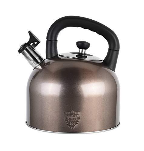 HongTeng Teekessel Pfeifen zum Herd Gaskessel Edelstahl Pfeife Teekanne Wasserflasche (Color : Olive, Size : 4L) -