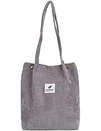 b260378f84eae jEZmiSy Lässig große Kapazität Cord Shopping Umhängetasche Frauen Reisen  Tote Handtasche