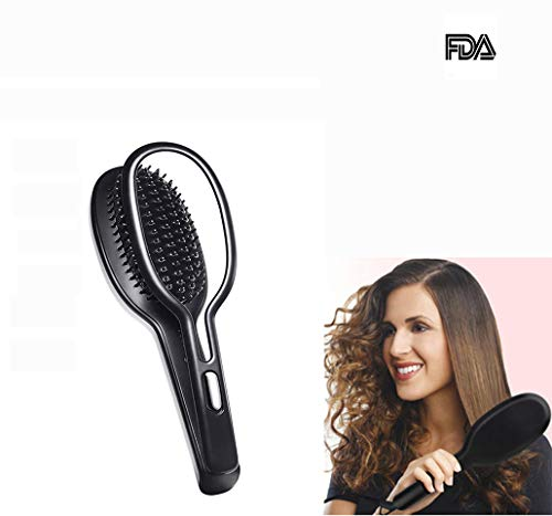 Negativer Ionenhaarkamm, 2 In 1 Straight Hairelectric Splint Wet and Dry Ceramic Spray Curling Iron