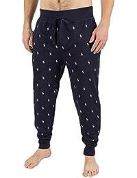 Polo Ralph Lauren Homme Logo Baudrier All Over Logo Pyjama Bottoms, Bleu