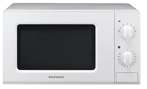 Daewoo KOR-6F07 - Microondas, 20 litros, manual, sin grill, color blanco