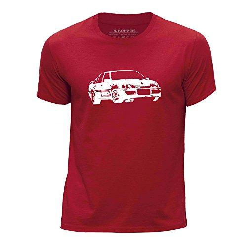 STUFF4 Jungen/Alter 12-14 (152-164cm)/Rot/Rundhals T-Shirt/Schablone Auto-Kunst / Lotus Omega -