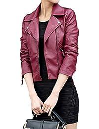 premium selection 4b90e ae0a8 Amazon.it: In Pelle Biker - Rosso / Donna: Abbigliamento