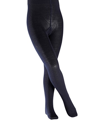 FALKE Kinder Strick Strumpfhose Comfort Wool Schurwolle Baumwolle BlickdichtEinfarbig, blickdicht, darkmarine, 152-164 (Denier 70 Blickdichte Strumpfhose)