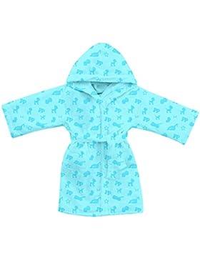 Gabel Patrulla Canina - Albornoz de rizo, 100% algodón, azul claro