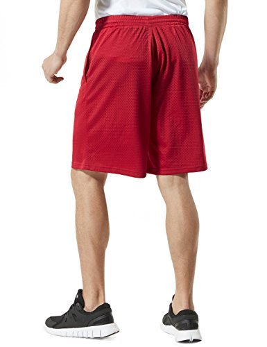 Tesla Active pantaloncini sportivi performance Hyperdri II da uomo con tasche MBS01/MBS02/MBS03 MBS02 RED