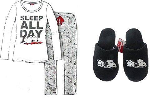 usschuhe Damen Pyjama Disney Peanuts Snoopy (38-39 Hausschuhe M Pyjama) (Damen Disney Hausschuhe)