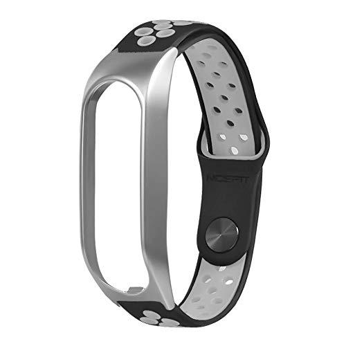 Ersatzband Armband Für Tomtom Touch, Zwei Farben Zink Legierung + Silikon Durable Air Loch Schnalle Handschlaufe